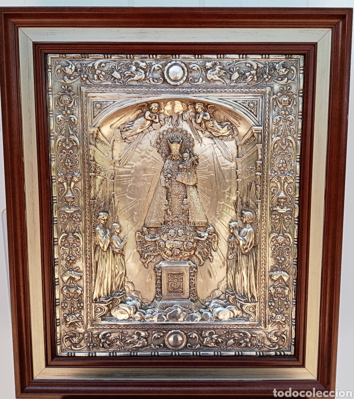 Antigüedades: IMPORTANTE VIRGEN DE LOS DESAMPARADOS - BAJO RELIEVE - PLATA ALEMANA - GRAN TAMAÑO - Foto 2 - 225548555