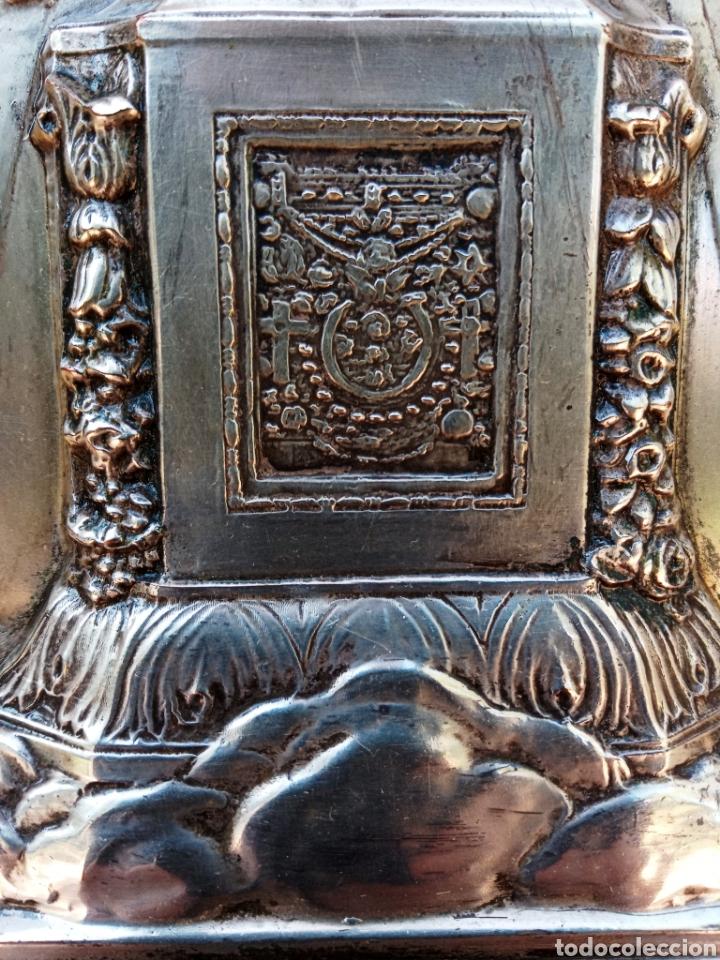 Antigüedades: IMPORTANTE VIRGEN DE LOS DESAMPARADOS - BAJO RELIEVE - PLATA ALEMANA - GRAN TAMAÑO - Foto 5 - 225548555