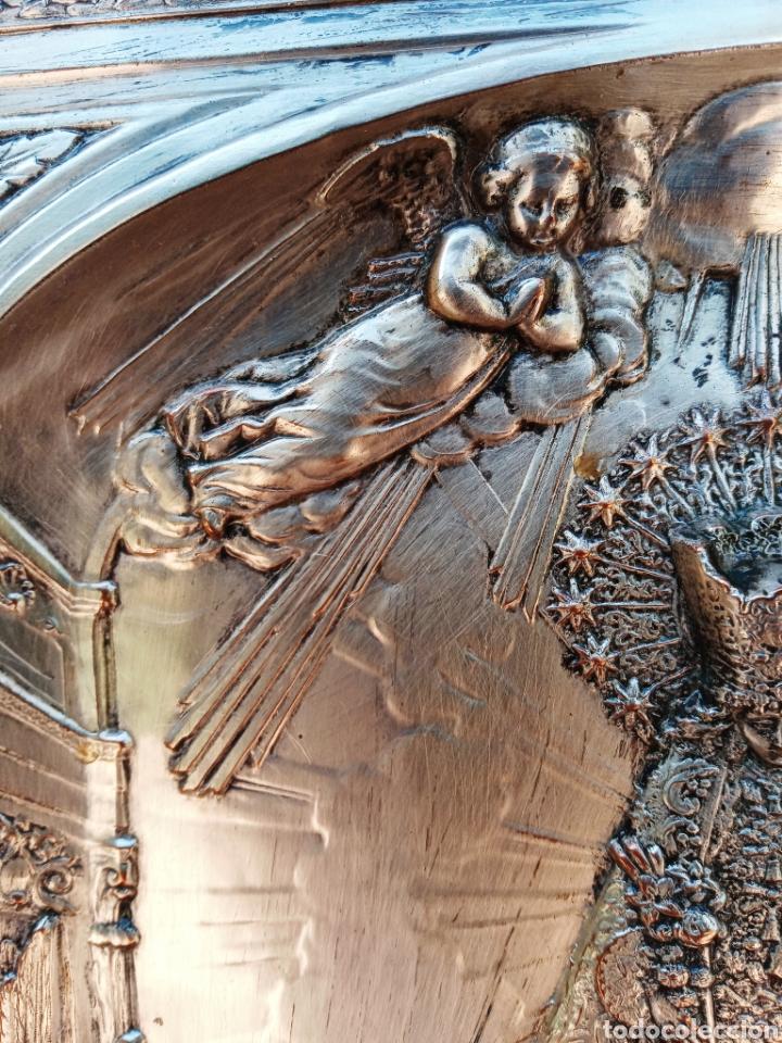 Antigüedades: IMPORTANTE VIRGEN DE LOS DESAMPARADOS - BAJO RELIEVE - PLATA ALEMANA - GRAN TAMAÑO - Foto 6 - 225548555