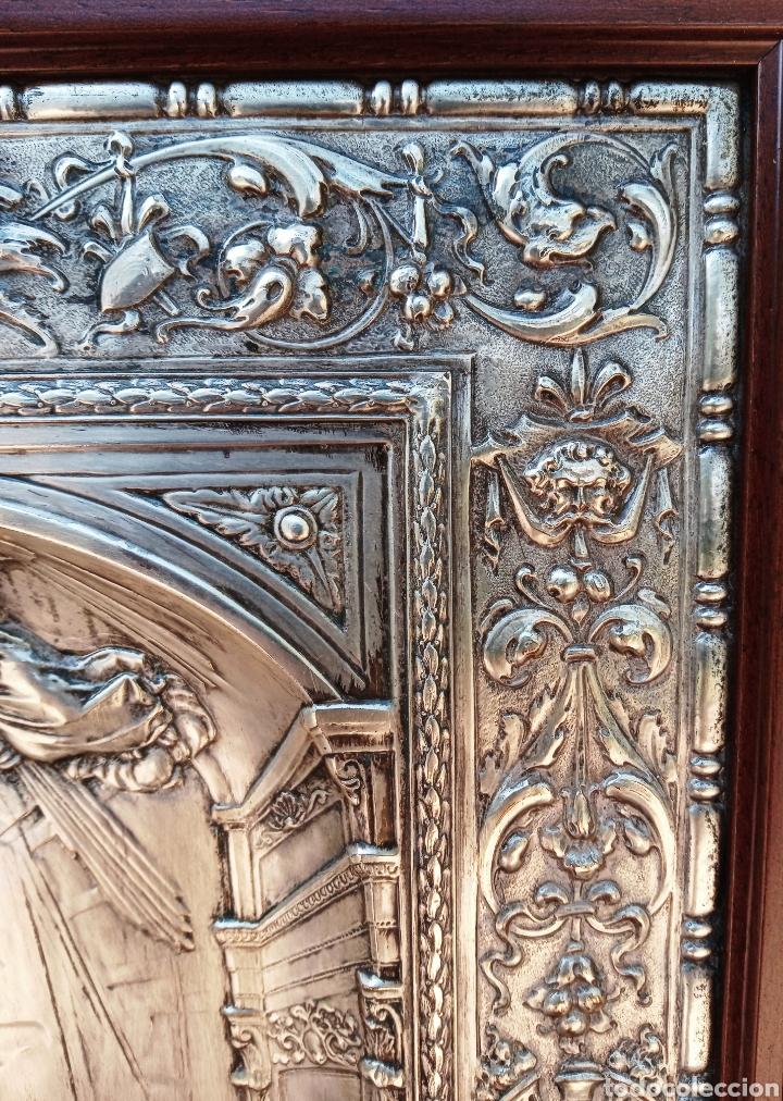 Antigüedades: IMPORTANTE VIRGEN DE LOS DESAMPARADOS - BAJO RELIEVE - PLATA ALEMANA - GRAN TAMAÑO - Foto 7 - 225548555