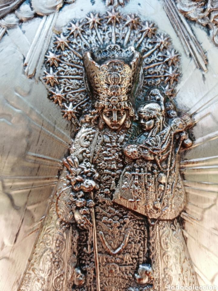 Antigüedades: IMPORTANTE VIRGEN DE LOS DESAMPARADOS - BAJO RELIEVE - PLATA ALEMANA - GRAN TAMAÑO - Foto 8 - 225548555