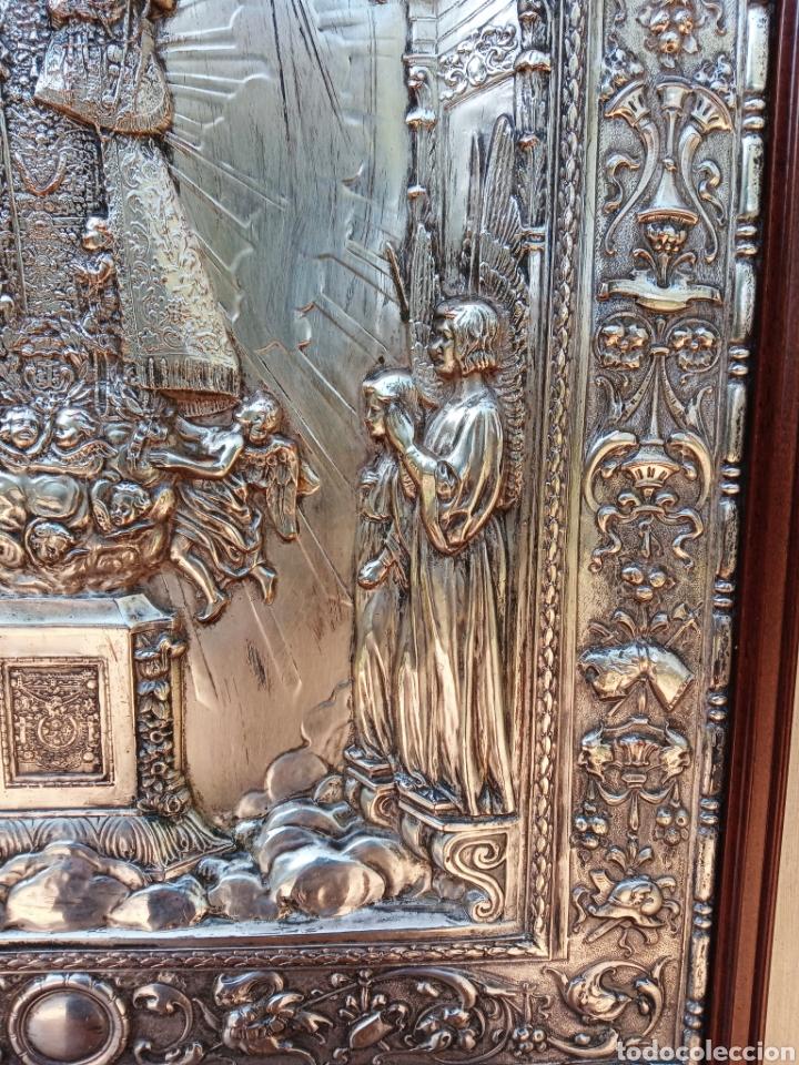 Antigüedades: IMPORTANTE VIRGEN DE LOS DESAMPARADOS - BAJO RELIEVE - PLATA ALEMANA - GRAN TAMAÑO - Foto 9 - 225548555