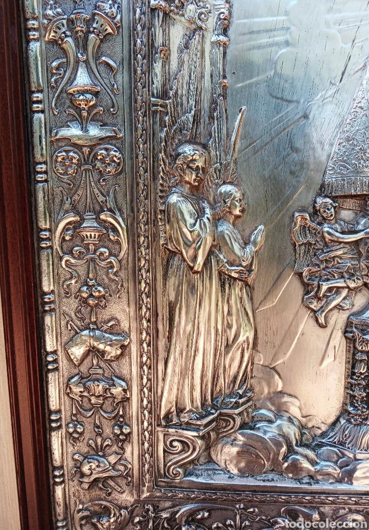 Antigüedades: IMPORTANTE VIRGEN DE LOS DESAMPARADOS - BAJO RELIEVE - PLATA ALEMANA - GRAN TAMAÑO - Foto 10 - 225548555