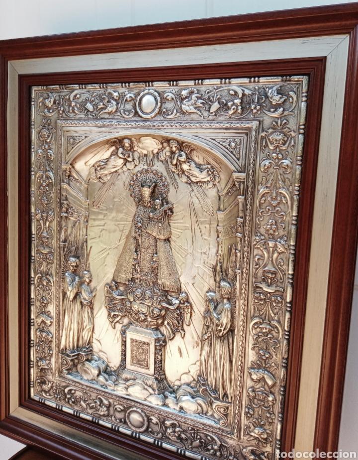 Antigüedades: IMPORTANTE VIRGEN DE LOS DESAMPARADOS - BAJO RELIEVE - PLATA ALEMANA - GRAN TAMAÑO - Foto 11 - 225548555