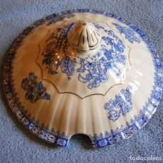 Antigüedades: TAPA FUENTE SOPERA PORCELANA SANTA CLARA, CHINA BLAU. DE 25 CMS DE DIAMETRO.. Lote 192158886