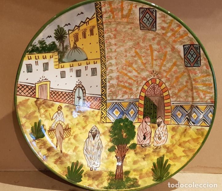 GRAN PLATO-FUENTE-CUSCUSERA / CERÁMICA MARROQUÍ / DECORADO A MANO / SAFI / 35 CM Ø / PERFECTO. (Antigüedades - Porcelanas y Cerámicas - Otras)