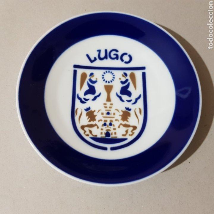 PLATO SARGADELOS CON ESCUDO DE LUGO (Antigüedades - Porcelanas y Cerámicas - Sargadelos)
