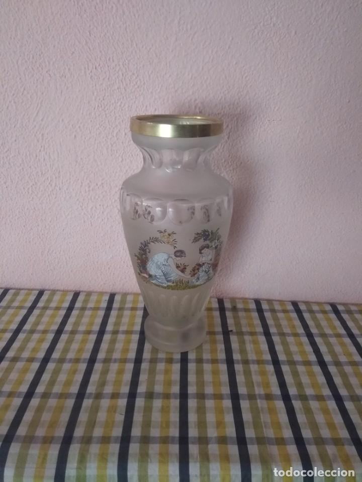 PRECIOSO JARRÓN ANTIGUO (Antigüedades - Cristal y Vidrio - Bohemia)