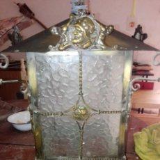 Antigüedades: FAROL DE BRONCE. Lote 192210667