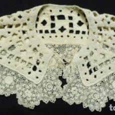 Antigüedades: ANTIGUA CAPELINA DE ENCAJE DE IRLANDA S. XIX. Lote 192211175