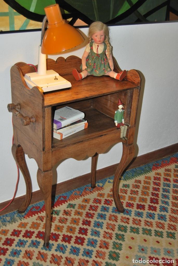 MESA DE MADERA - MESITA - PATA CABRIOLÉ - PIE DE CIERVO - PIED-DE-BICHE - REGENCIA -LUIS XV -S.XVIII (Antigüedades - Muebles Antiguos - Mesas Antiguas)