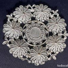 Antigüedades: BANDEJA DE PLATA. FILIGRANA. SIGLO XIX.. Lote 192231595
