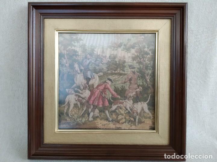 CUADRO-TAPIZ DE FRANCIA, ANTIGUO Y RARO. (Antigüedades - Hogar y Decoración - Tapices Antiguos)