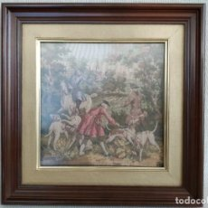 Antigüedades: CUADRO-TAPIZ DE FRANCIA, ANTIGUO Y RARO.. Lote 192240396