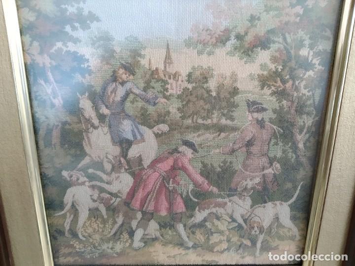 Antigüedades: Cuadro-Tapiz de Francia, antiguo y raro. - Foto 2 - 192240396