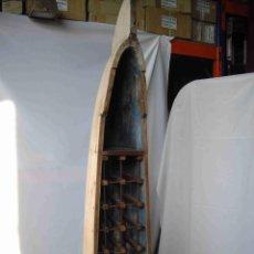 Antigüedades: BOTELLERO CANOA. Lote 192251766