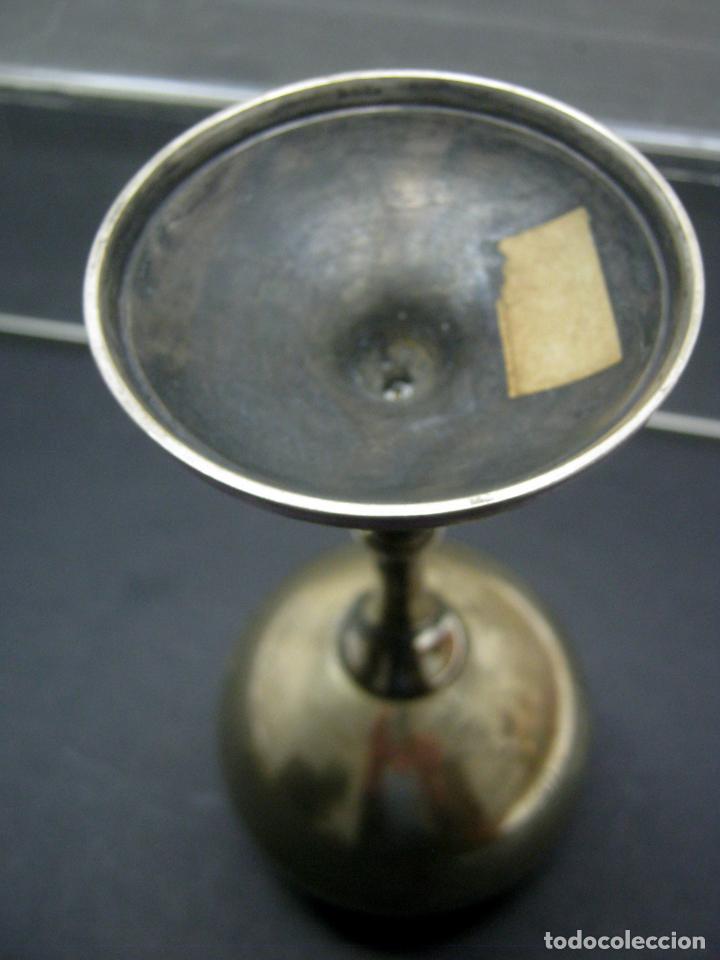 Antigüedades: Antigua copa de bronce cincelada - Foto 6 - 192278730