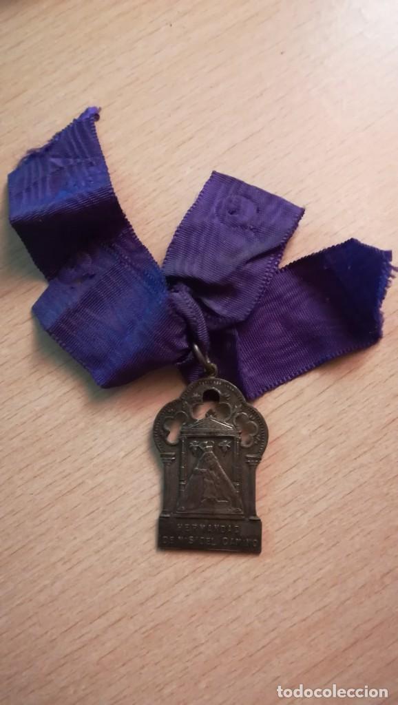 MEDALLA HERMANDAD DE NUESTRA SEÑORA DEL CAMINO (Antigüedades - Religiosas - Medallas Antiguas)