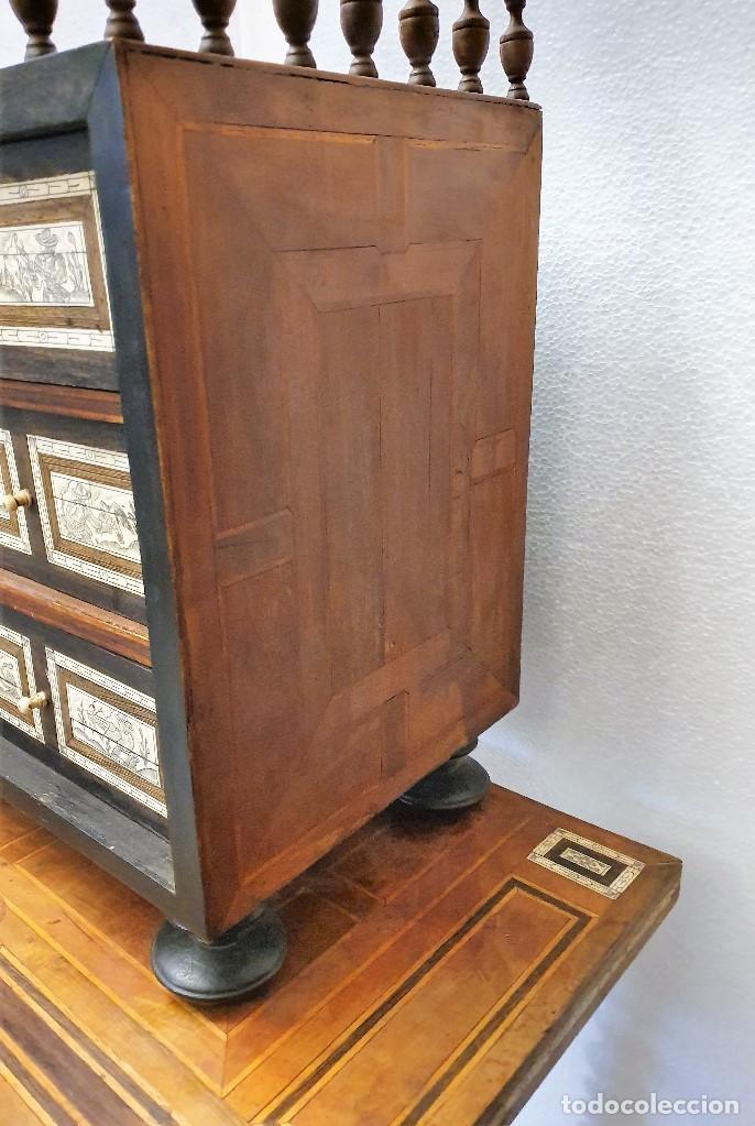 Antigüedades: BARGUEÑO DE HUESO Y MARQUETERIA - Foto 4 - 192310353