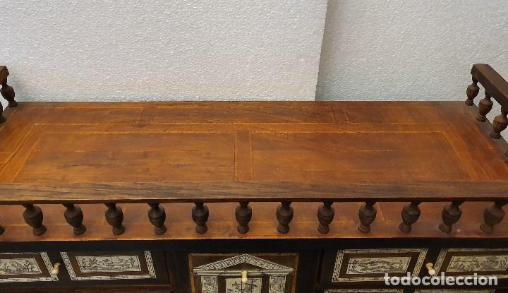 Antigüedades: BARGUEÑO DE HUESO Y MARQUETERIA - Foto 9 - 192310353