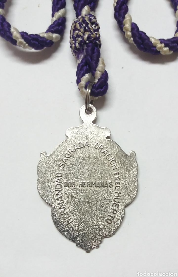 Antigüedades: MEDALLA HDAD SAGRADA ORACION EN EL HUERTO DOS HERMANAS SEVILLA - Foto 3 - 192311722