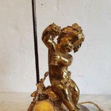 Antigüedades: LAMPARA DE SOBREMESA EN BRONCE MACIZO AL MERCURIO. Lote 192312327