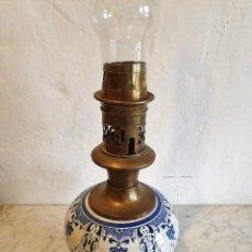 Antigüedades: ANTIGUO QUINQUE DE PORCELANA. Lote 192312841
