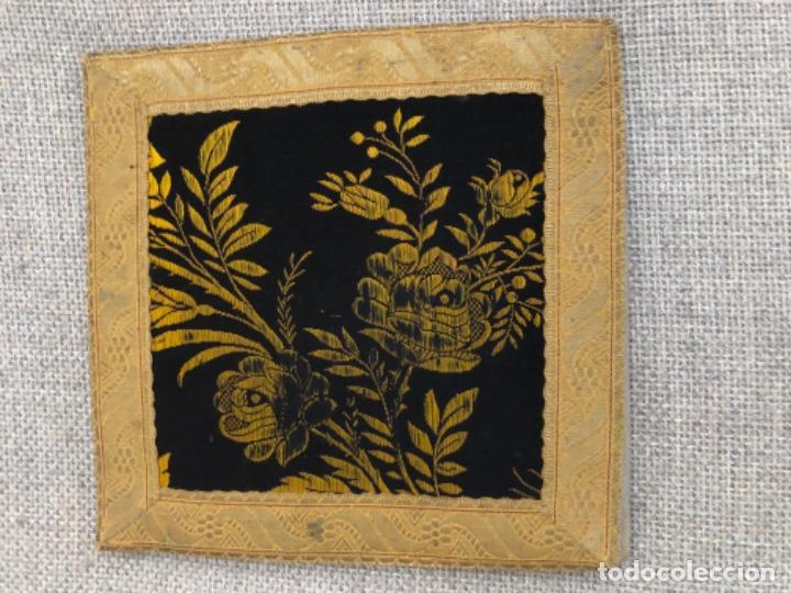 Antigüedades: Antigua funda corporales realizadas en Damasco con galón de oro. XIX - Foto 2 - 192318243