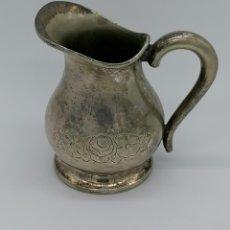 Antigüedades: JARRITA PARA LECHE EN METAL PLATEADO. Lote 192373788