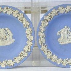 Antigüedades: PAREJA DE PLATOS EN PORCELANA DE WEDGWOOD SIGLO XIX. Lote 192374631