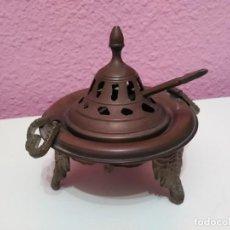 Antigüedades: INCENSARIO GRANDE DE BRONCE. QUEMADOR DE INCIENSO. Lote 192383225