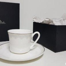 Antigüedades: TAZA CON PLATO DE CAFÉ ROSENTHAL EN CAJA MODELO JADE RENDEZVOUS SIN USAR. Lote 192387127