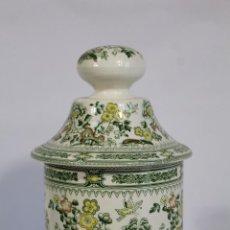 Antigüedades: PIEZA PORCELANA BOTE TARRO TIBOR SAN CLAUDIO KANTONG,. Lote 243942800