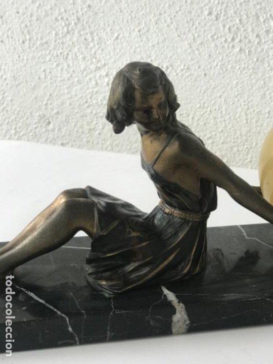 Antigüedades: LAMPARA DE SOBREMESA ART DECO ART NOUVEAU FIRMADA L.BRUNS 1930'S. - Foto 13 - 192416603