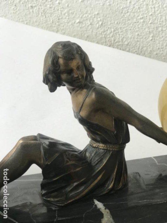 Antigüedades: LAMPARA DE SOBREMESA ART DECO ART NOUVEAU FIRMADA L.BRUNS 1930'S. - Foto 14 - 192416603