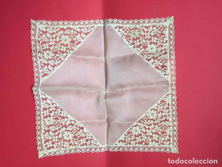 Antigüedades: Pañuelo encaje. (1920-30's) ¡Coleccionista! ¡Original! - Foto 5 - 192438198