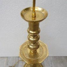 Antigüedades: LAMPARA DE BRONCE. Lote 192442043