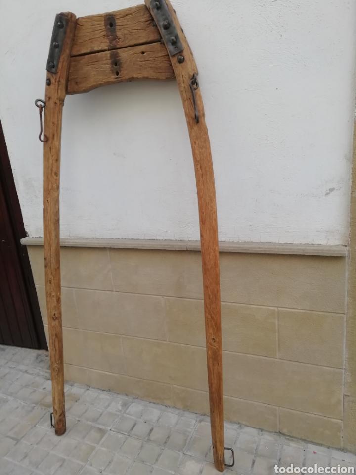 ANTIGUO UNSILLO PARA EL GANADO (Antigüedades - Técnicas - Rústicas - Caballería Antigua)
