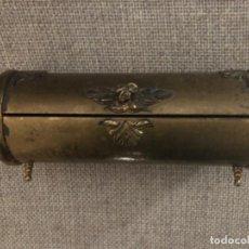 Antigüedades: ANTIGUO Y SINGULAR JOYERO REALIZADO EN BRONCE. S.XIX. Lote 192470465