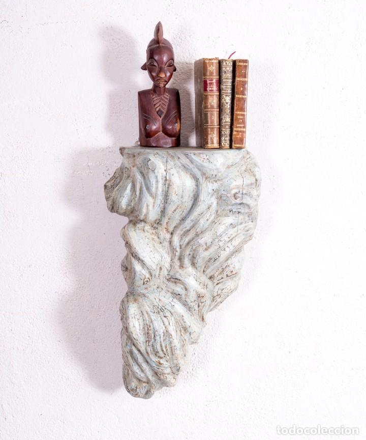 MÉNSULA DE MADERA ANTIGUA (Antigüedades - Muebles Antiguos - Ménsulas Antiguas)