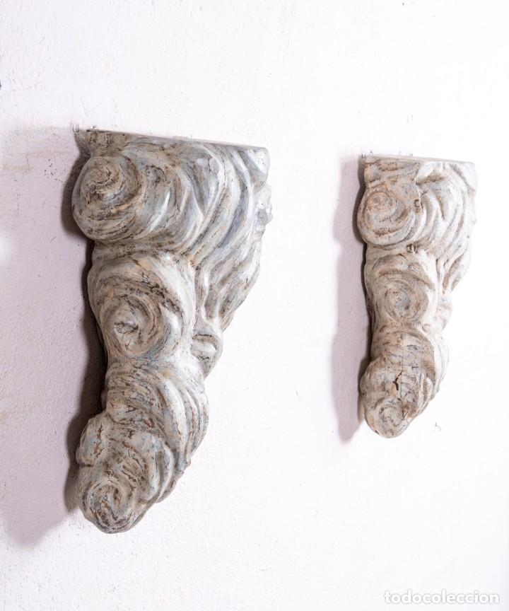 Antigüedades: Ménsula De Madera Antigua - Foto 4 - 192471408