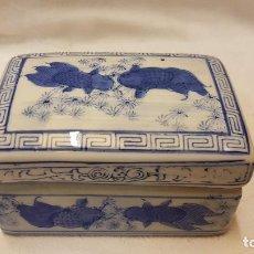 Antigüedades: CAJA CERAMICA CHINA CON TAPA. Lote 192479391