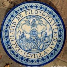 Antigüedades: PLATO DE TRIANA DE 1950 APROXIMADAMENTE, CON S. FERNANDO.. Lote 192482382