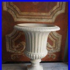 Antigüedades: COPA DE HIERRO MEDICI EN COLOR BLANCO ALTURA 48 CM. Lote 192486003