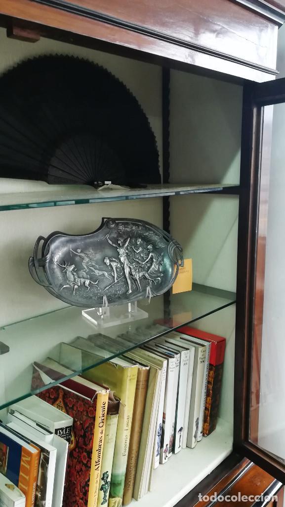 Antigüedades: LIBRERIA VITRINA INGLESA ANTIGUA NOGAL SIGLO XIX - Foto 9 - 192538621