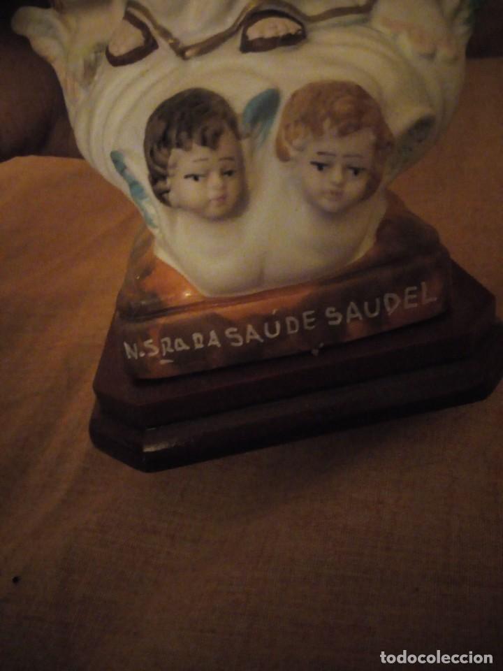 Antigüedades: Imagen nuestra señora de la salud con querubines a los pies,porcelana - Foto 7 - 192597738