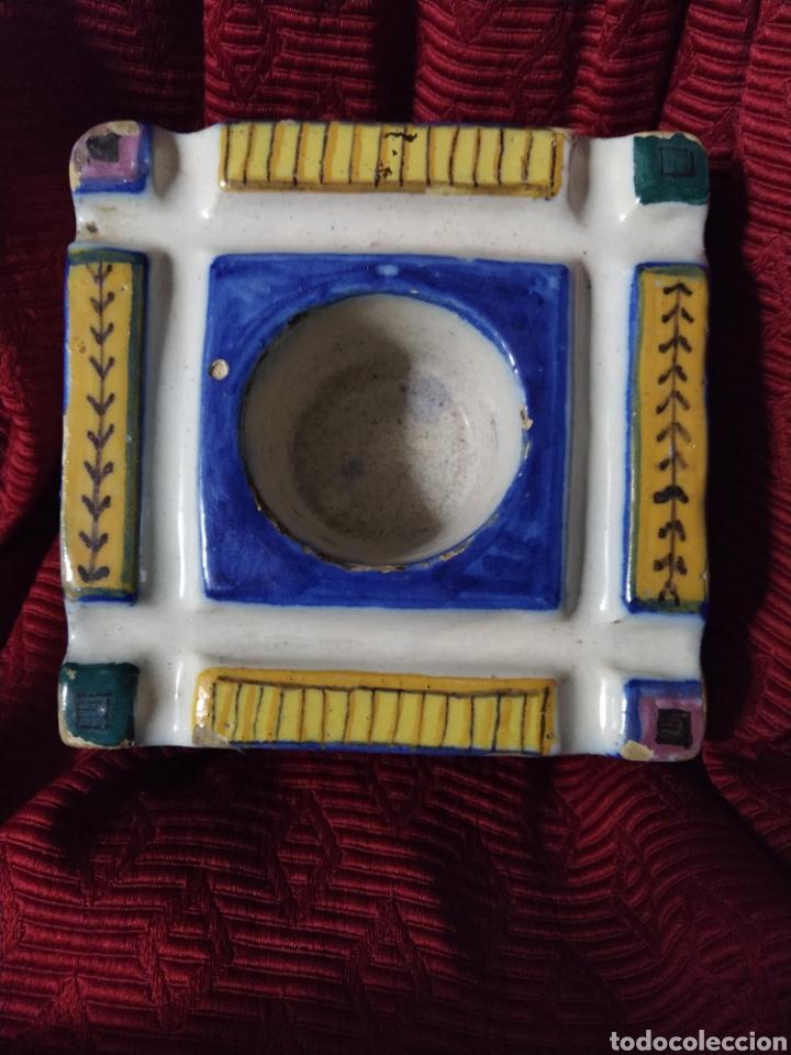 Antigüedades: Bonito tintero de Triana finales siglo XIX. - Foto 2 - 192601456