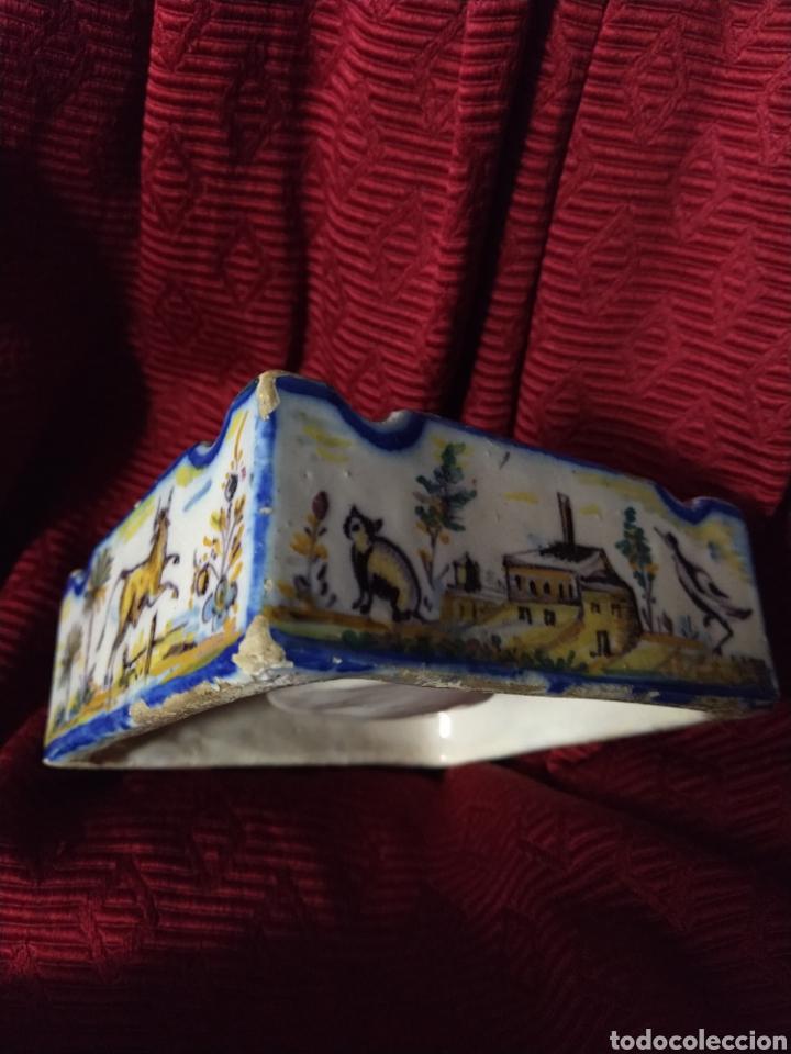 Antigüedades: Bonito tintero de Triana finales siglo XIX. - Foto 3 - 192601456