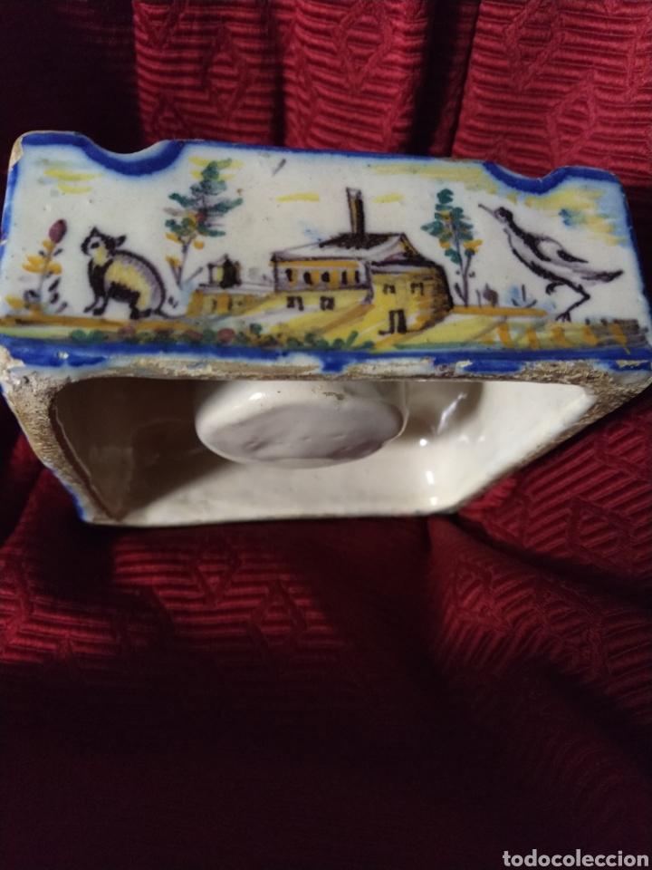 Antigüedades: Bonito tintero de Triana finales siglo XIX. - Foto 4 - 192601456