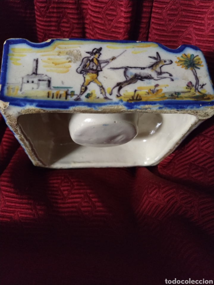 Antigüedades: Bonito tintero de Triana finales siglo XIX. - Foto 6 - 192601456